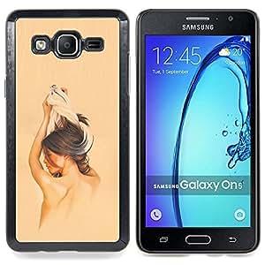 - Brunette Girl - - Cubierta del caso de impacto con el patr??n Art Designs FOR Samsung Galaxy On5 SM-G550FY G550 Queen Pattern