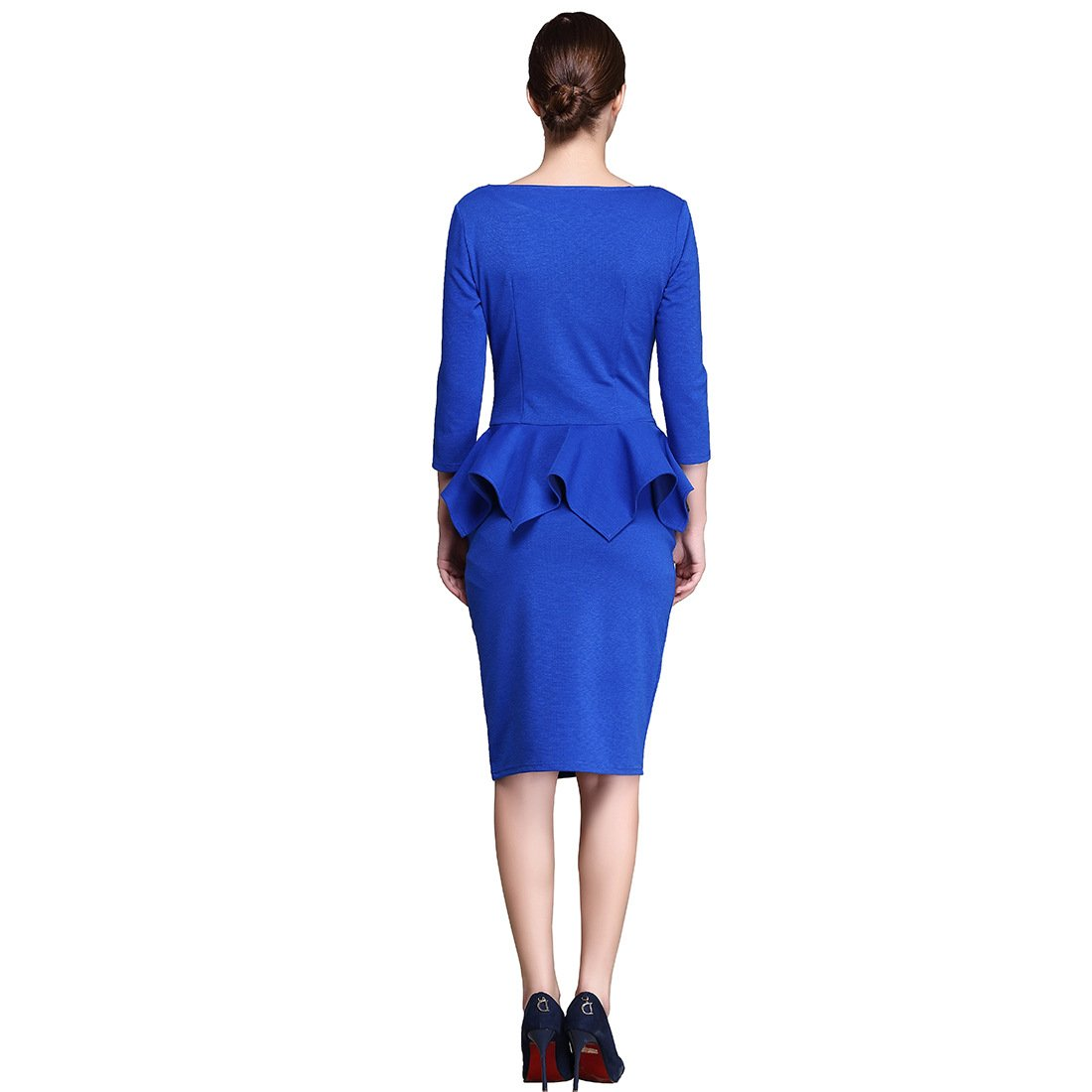 KAXIDY Ladies Bodycon Prom Dress Pencil Dresses Casual Party Workwear Business Wear Prom Dress: Amazon.co.uk: Clothing