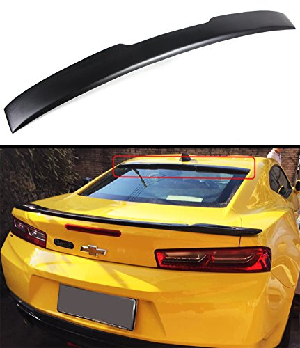 - Cuztom Tuning Fits for 2016-17 Chevy Camaro LT RS Sport Primer Black Rear Window Roof Spoiler Wing
