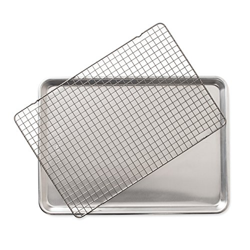 Nordic Ware 43172 2-Piece Set-Half Sheet W/Oven Safe Nonstick Grid, Aluminum from Nordic Ware