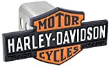 Harley-Davidson 3D Black & Orange Bar & Shield Trailer Hitch Cover Plug