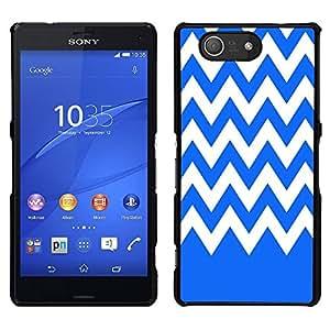 Dragon Case - FOR Sony Xperia Z3 Compact - Blue and white - Caja protectora de pl??stico duro de la cubierta Dise?¡Ào Slim Fit
