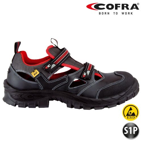 Cofra S1 P Asgard 13050-000 BGR191, Zapatos de Seguridad Guttorm , Sandalias de Verano, Negro, 43 EU