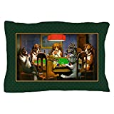 CafePress - Poker Dogs Friend (Green Border) - Standard Size Pillow Case, 20''x30'' Pillow Cover, Unique Pillow Slip