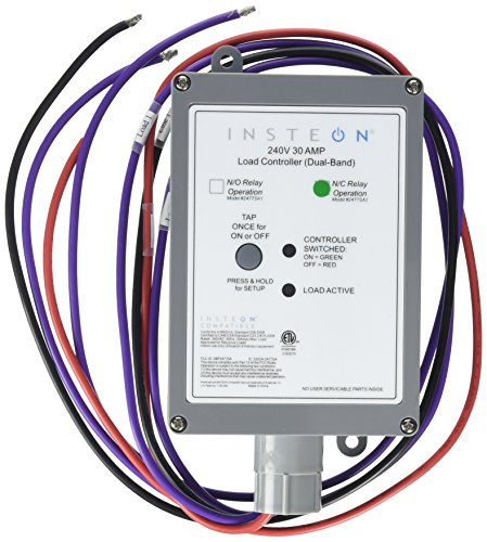 UPC 813922010381, Insteon 2477SA2 Insteon Dual-Band 220V / 240V 30-AMP Load Controller Normally Closed Relay, White