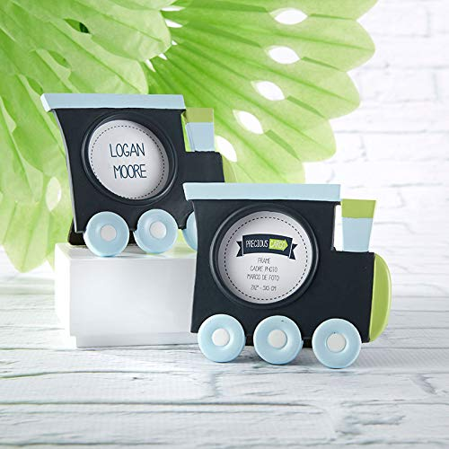 Kate Aspen Precious Cargo Choo Choo Train Shaped Picture Frame/Place Card Holder - Set of 24 - Perfect Baby Shower Favor & Decoration