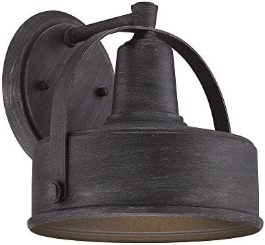 Designers Fountain 33131-WP Portland-DS – 8.25 One Light Outdoor Wall Lantern, Weathered Pewter Finish