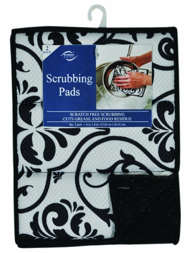 (Envision Home 451500 2-Pack Microfiber Scrubbing Pads, 6 by 8-Inch )