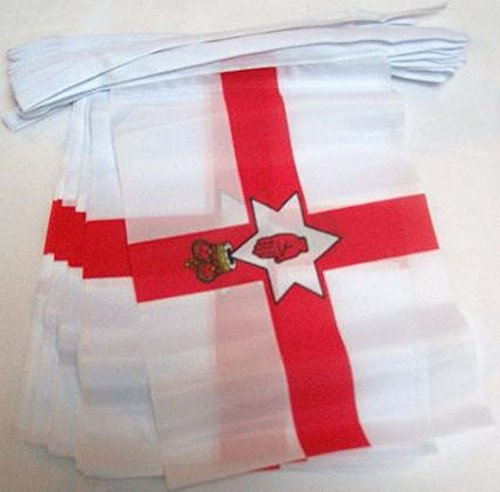 AZ FLAG Northern Ireland 6 Meters Bunting Flag 20 Flags 9'' x 6'' - Irish String Flags 15 x 21 -