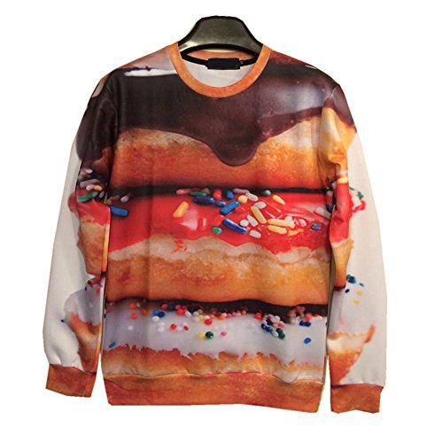 Unisex hipster Sweater Funny Foods Donuts Pullover 3D Hoodies Sweatshirt - Hipster To Where Glasses Get