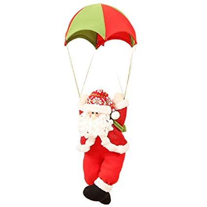 QIKI Christmas parachute, old man hanging pieces Christmas decorations  shopping mall window ornaments Skydiving doll - Amazon.com: QIKI Christmas Parachute, Old Man Hanging Pieces
