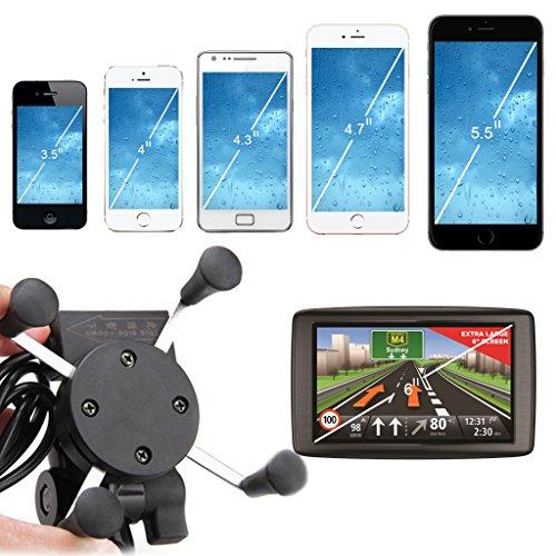Excelvan Universal Motorcycle Phone Mount Holder Usb