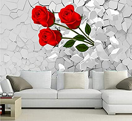 Mkkwp Personalizzato 3D Murale, 3D Scoppiato Attraverso Le ...