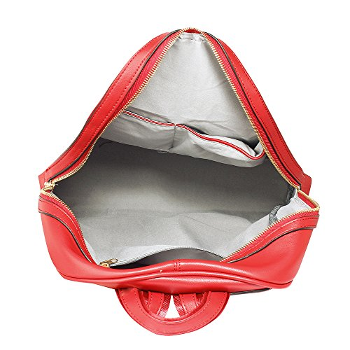 ANNA GRACE - Bolso mochila  de piel sintética para mujer Design 1 - Red