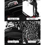 JXH-Adulti-24-Pollici-Mountain-Bike-Spiaggia-motoslitta-Biciclette-Biciclette-Doppio-Freno-a-Disco-Alluminio-Lega-Uomo-Donna-General-Purpose