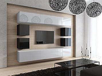 Wohnwand Matt Schwarz ~ Homedirectltd future 17 moderne wohnwand tv schrank garnitur
