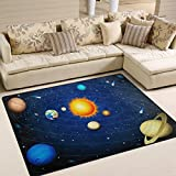 La Random Planets in Solar System Modern Area Rug Decorative Shaggy Rugs 80x58 Inches, Non-Skid Lightweight Rugs for Living Room Bedroom Floor Carpet Door Mats Home Decor