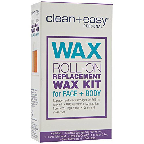 (Clean + Easy Personal Roll On Waxer Refill, Large, 2)