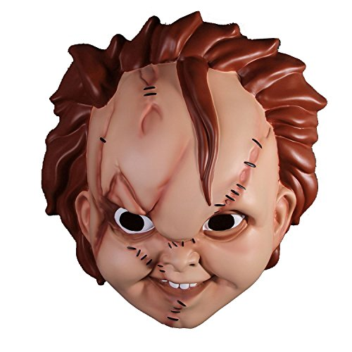 [Child's Play Adult-Sized Chucky Mask Costume] (Chucky Costumes For Children)