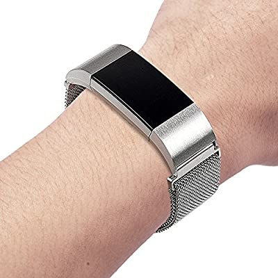 RedTaro Replacement Metal Bands for Fitbit Charge 2,Small/Large Rose Gold/Black/Silver/Gold available,Charge 2 Milanese Metal Magnetic Bands, Fitbit Charge 2 Bands