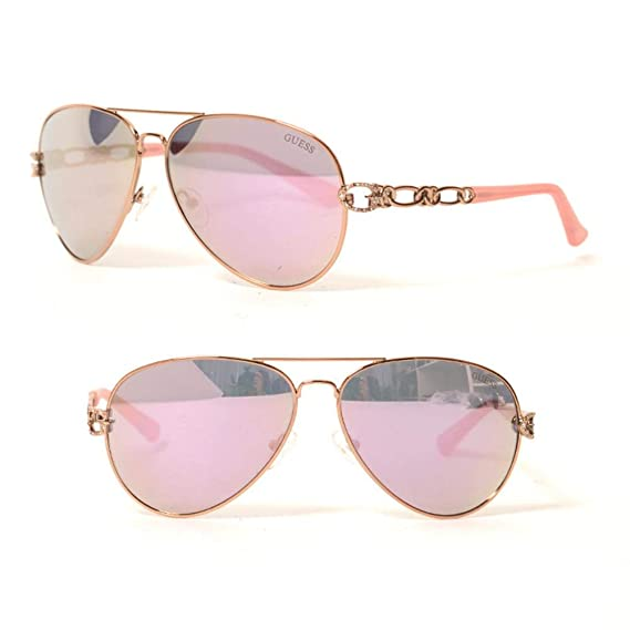 Guess GF6044-6228U Gafas de sol, Rosa, 62 para Mujer: Amazon ...
