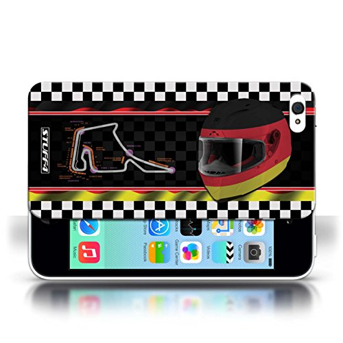 Etui / Coque pour Apple iPhone 5C / Allemagne conception / Collection de F1 Piste Drapeau