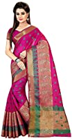 Royal Export Women's Cotton Silk Saree (Pink)