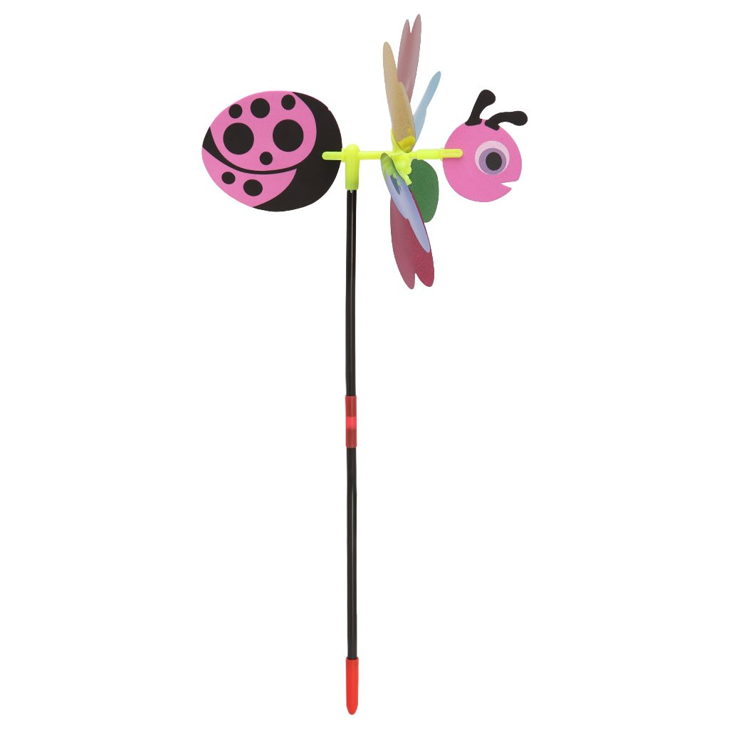 Green sunhoyu 3D Sequins Animal Bee Windmill Wind Spinner Home Garden Yard Decoration Kids Toy-Bright Colors Easy Installation