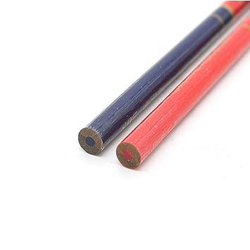 5 piezas de madera rojo y azul marca dibujar carpintero l/ápiz