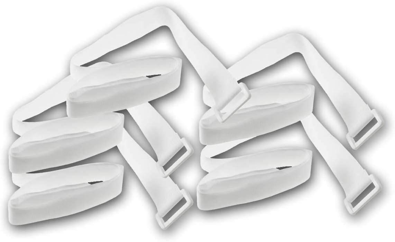 Kabelbinder Klettband Klettverschluss Mit Öse 80cm Lang 3cm Breit I Sicheres Verstauen Von Kabel Und Leitungen I 5er Pack Weiß Baumarkt