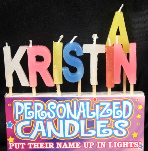 Kristina Letter Shaped Birthday Candles