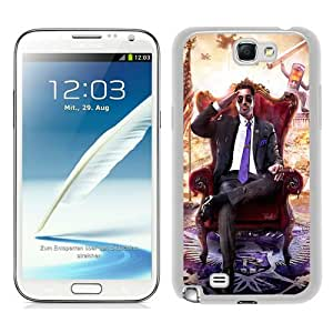 Saints-Row-IV White Abstract Custom Design Samsung Galaxy Note 2 7100 Protective Phone Case