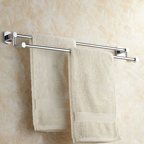 Brass double bar Towel rack/Bathroom double towel bar/Towel shelf ...