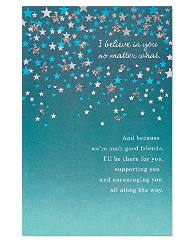 American Greetings Believe in You Thinking of You Card with Glitter
