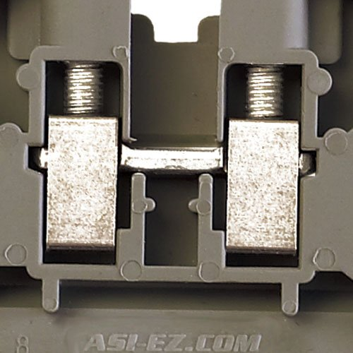 ASI ASIUK5N Din Rail Mounted Terminal Block, Screw Clamp (Pack of 50)