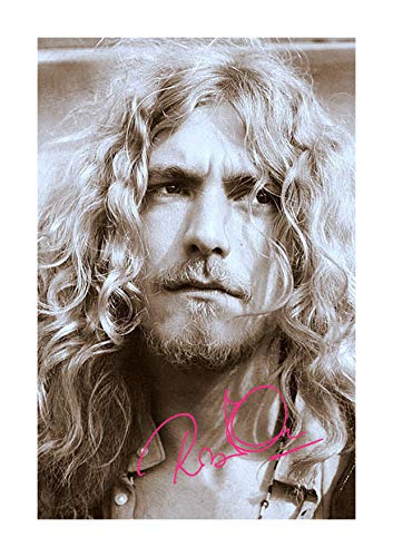 (Engravia Digital Robert Plant (6) Led Zeppelin Reproduction Autograph Poster Photo A4 Print(Unframed))