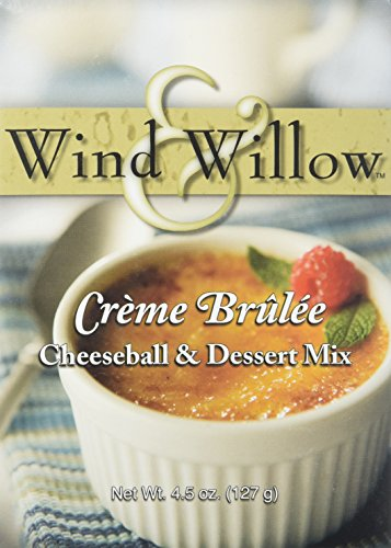 Wind and Willow Creme Brulee Cheeseball & Dessert Mix - 4.5 Ounce (4 Pack) ()