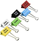 #9: Top Notch Teacher Products Things to Do Binder Clips (6 Pack), 2