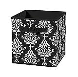 ClosetMaid 3255 Cubeicals Fabric Drawer, Black Damask