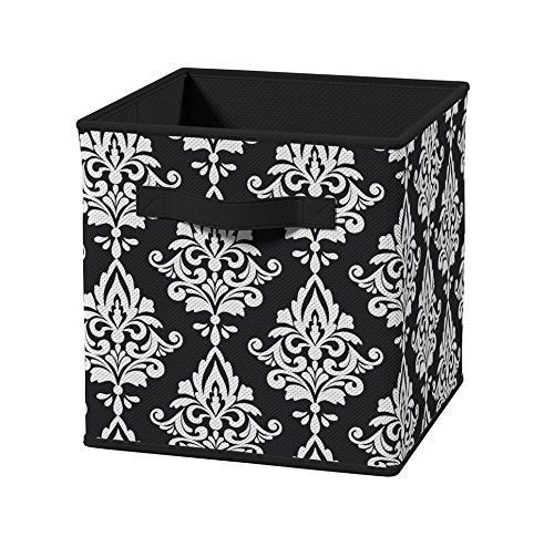 (ClosetMaid 3255 Cubeicals Fabric Drawer, Black Damask)