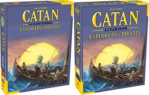 Catan: Explorers and Pirates Expansion Bundle with Catan: Explorers and Pirates Expansion 5-6 Player Extension