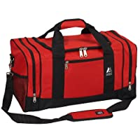 Bolsa de equipo deportivo Everest Luggage, Rojo /Negro, Rojo /Negro, Talla Única