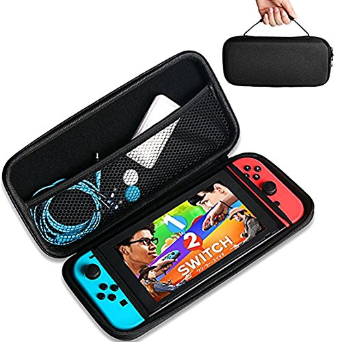 Travel Case Storage Bag for Nintendo Switch, Protective and Waterproof Storage Bag, Nintendo Switch Carry Case with Detachable Hand Wrist Strap, Portable and Suitable for Nintendo Switch Accessories