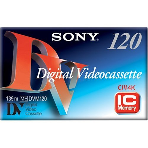 Sony DV 120 Minute Standard Size DVC w/chip (Single) (Discontinued by Manufacturer) by Sony