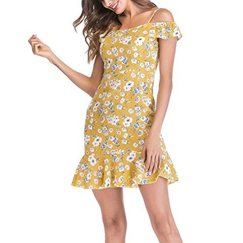 000c0ca36c8a87 ... tiefer kingko Damen Sommerkleid Elegant Playsuit Chiffon ärmellos  Spitze Romper Kurz Strandkleid,Ärmellos Strandmode, ...
