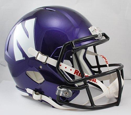 Northwestern Wildcats Riddell Full Size Speed Deluxe Replica Football Helmet (Deluxe Wildcats Helmet)