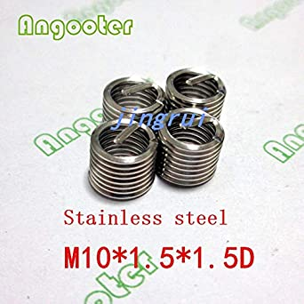 Ochoos 50pcs M101.51D Wire Thread Insert Bushing Screws Sleeve Stainless Steel Repair Insert kit Fastener Connection Tools