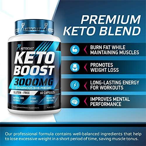 Keto Diet Pills - 5X Potent - Fat Burner 3000mg - Made in USA - Weight Loss Keto Burn - Exogenous Keto BHB Supplement for Women and Men - Keto Supplement & Metabolism Support - BHB Keto Burn 4