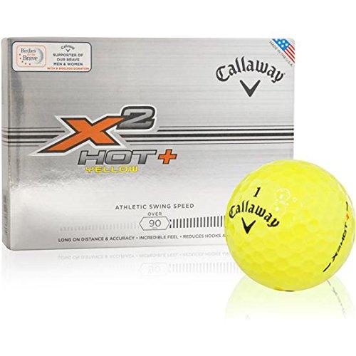 Callaway-Golf-X2-Hot-Yellow-Logo-Overrun-Golf-Balls