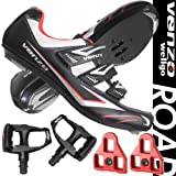 Venzo Road Bike For Shimano Spd Sl Look Cycling Bicycle Shoes & Pedals 44.5 | amazon.com